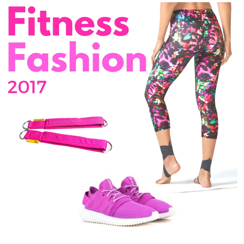 2017 pink fashion fitness trends adidas pink sneakers fabletics yoga pants strapilates reformer straps