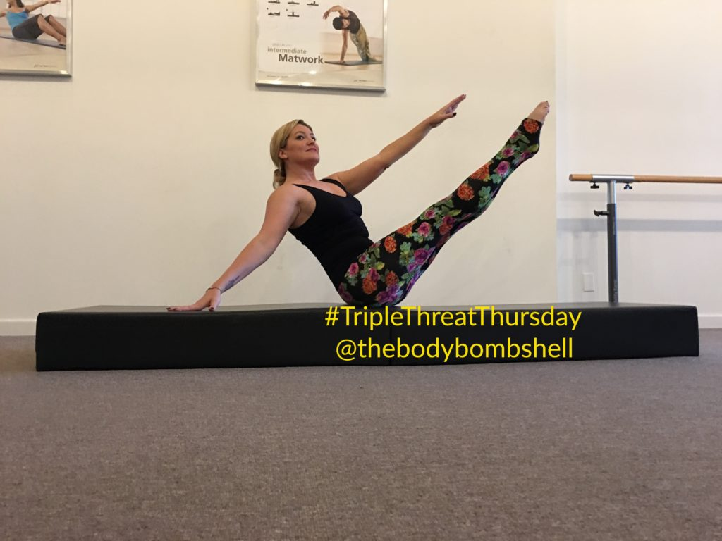 side body twist on mat with body bombshell fitness