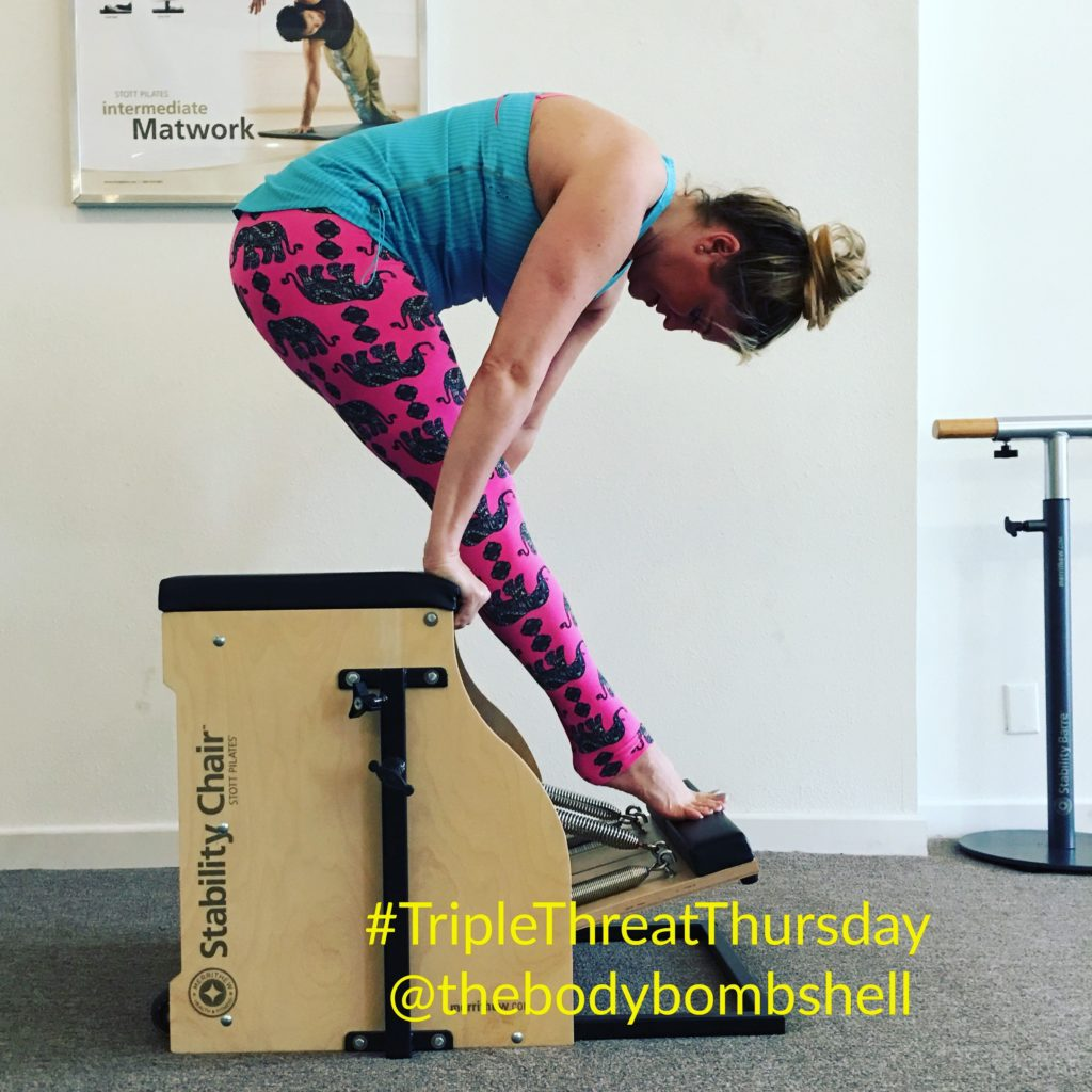 Tendon stretch on the reformer with Body Bombshell Fitness