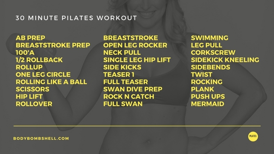 30 Minute Pilates Workout with Body Bombshell