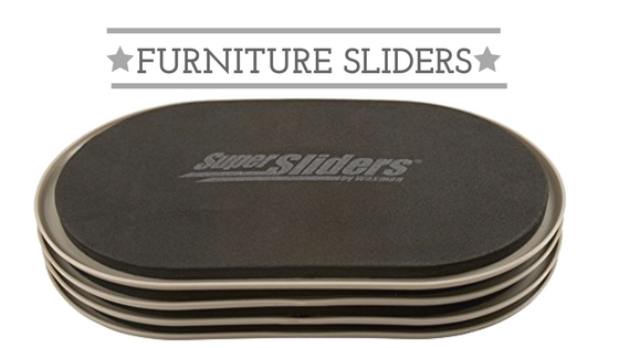 Furniture sliders for 5 minute hotel workout